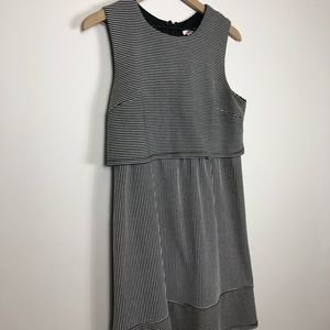Xhilaration Black and White Mod Dress